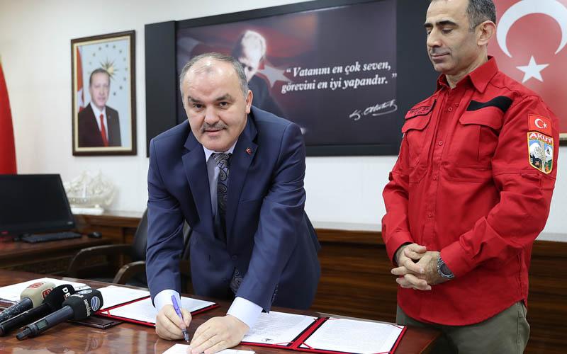 AKUT eğitim parkı sözleşmesi imzalandı