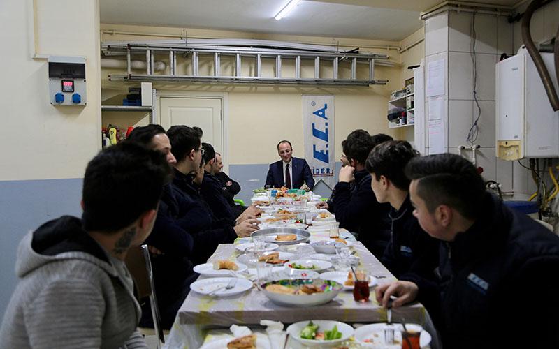 Örki'den kahvaltılı esnaf ziyareti