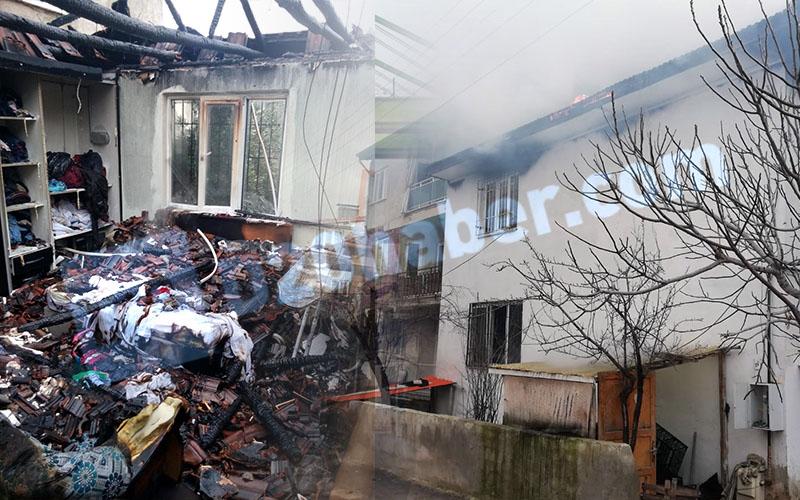 Çatıdaki elektrik kabloları evin yanmasına yol açtı