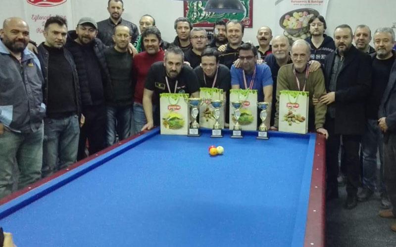 3 Bant Bilardo Ege Şampiyonası Denizli'de yapıldı