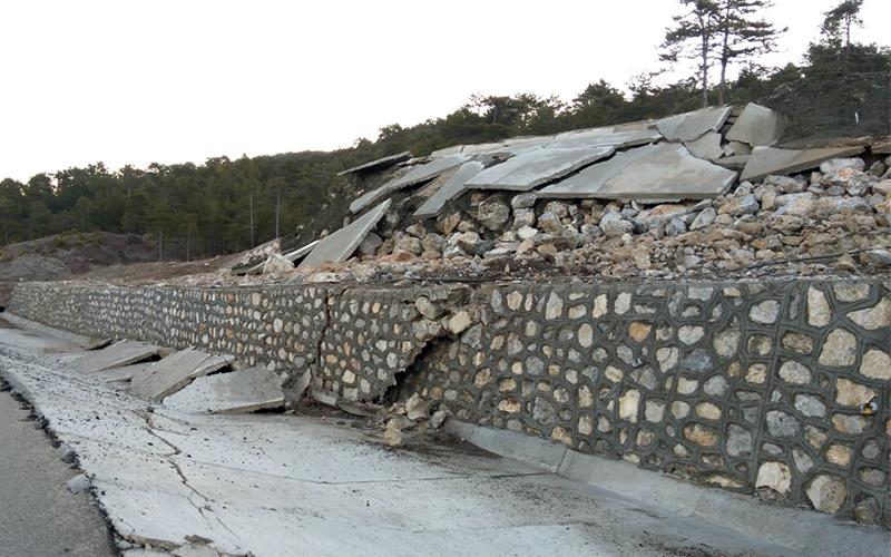 Çameli-Fethiye karayolunda heyelan korkusu