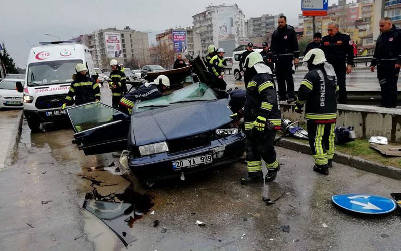 O kazada yaralanan sürücü hayatını kaybetti