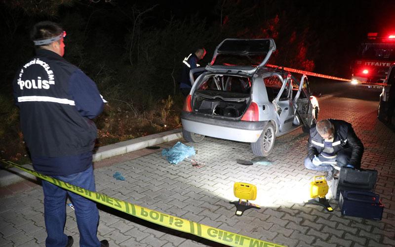 Otomobilde çakmak gazı dolum tüpü patladı: 3 yaralı