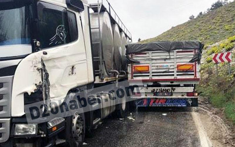 Sürücüler inatlaştı, TIR'lar yola sığmadı