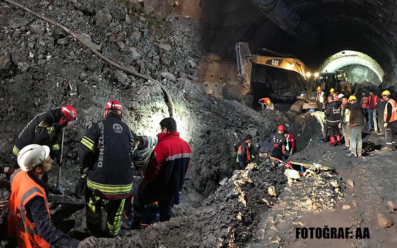 Honaz Tüneli'ndeki göçükte 1 işçi öldü