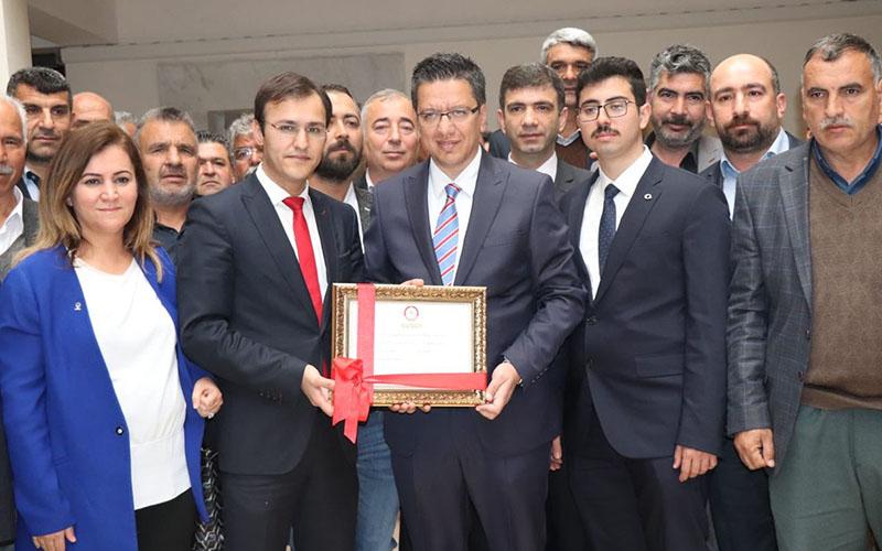 Çameli eski Kaymakamı Albayrak, Halfeti'ye belediye başkanı seçildi