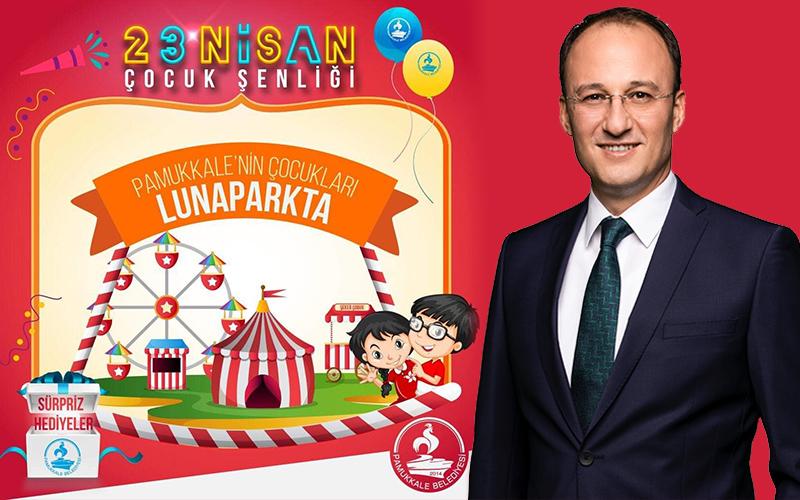 Pamukkale Belediyesi'nden çocuklara lunapark bileti