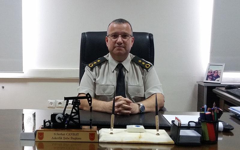 Denizli Askerlik Şubesi Başkanı Canbay, görevine başladı