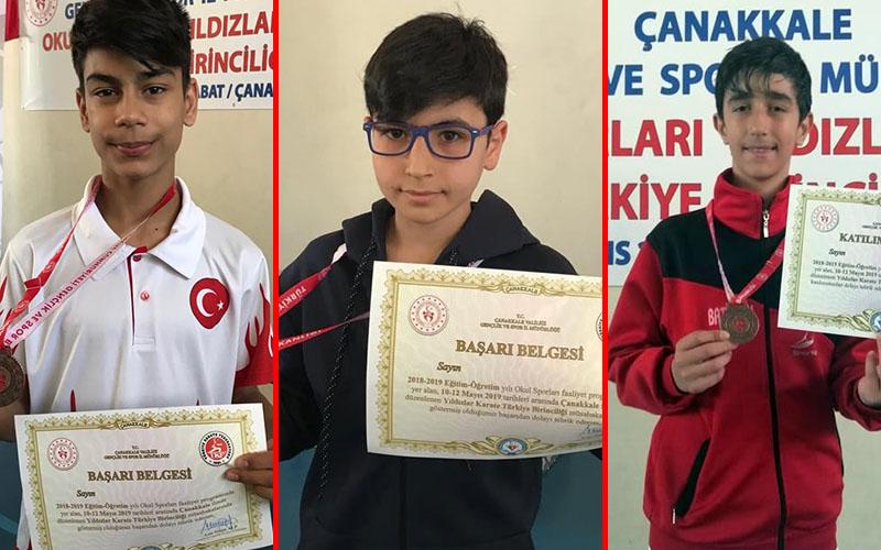 Karateciler, Türkiye Şampiyonası'ndan madalyalarla döndü