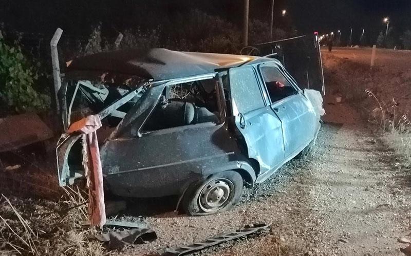 Tavas'ta trafik kazası: 1 ölü, 1 yaralı
