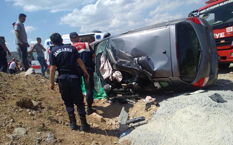 Kadın sürücünün can pazarı yaşadığı kaza
