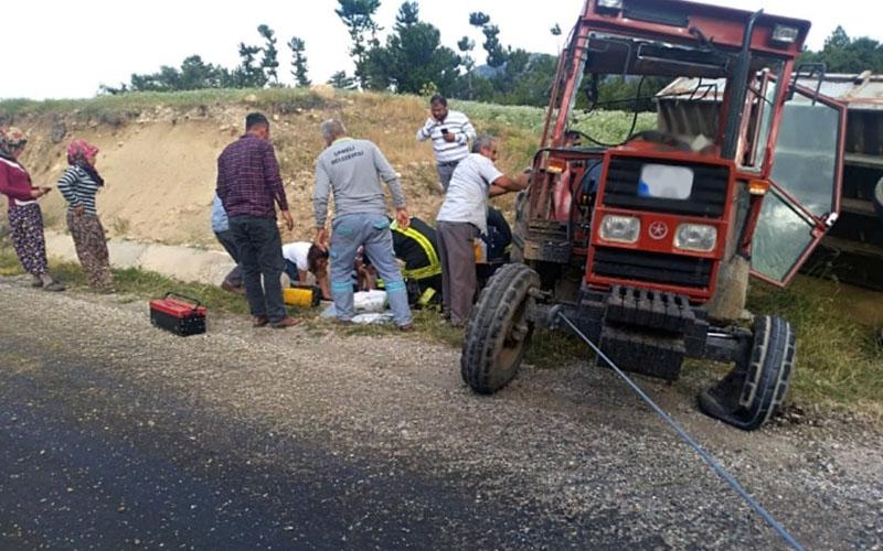 Traktör kazası bu kez ucuz atlatıldı