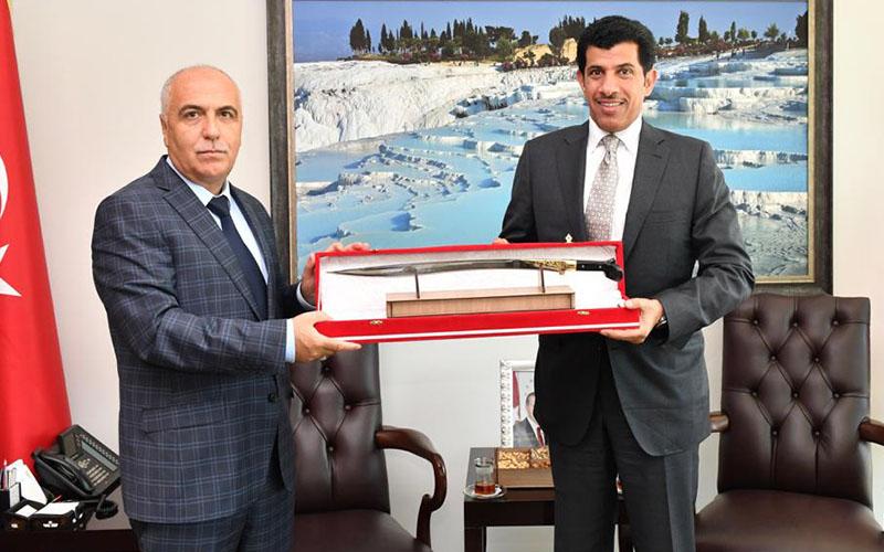 Katar Büyükelçisi, Karahan ve Zolan'ı ziyaret etti