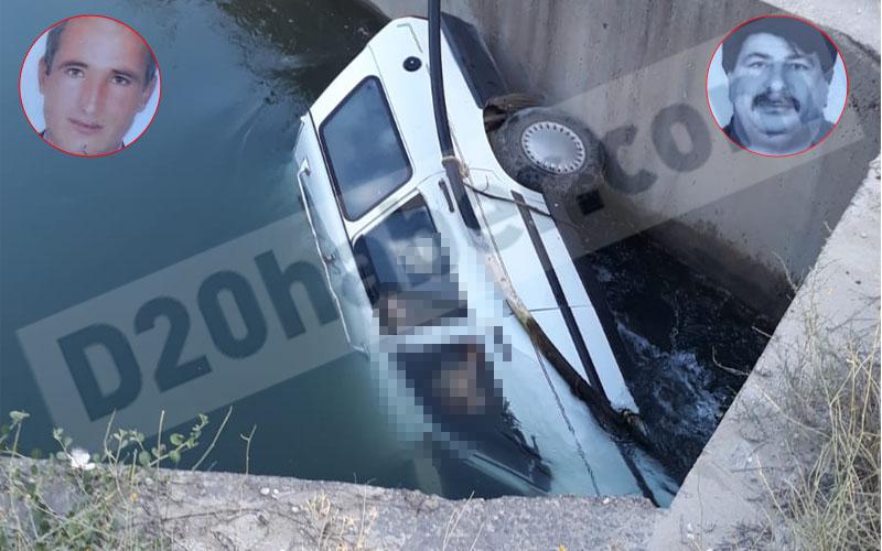 Otomobil sulama kanalına uçtu: 2 ölü