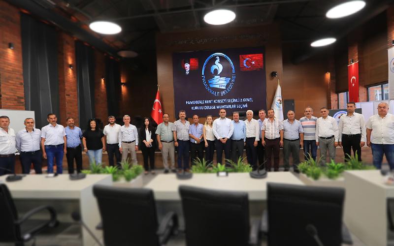 Muhtarlar, Pamukkale Kent Konseyi delegelerini seçti