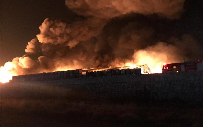 """Katı atık tesisiyle ilgili """"yangın OSB'de değil"""" açıklaması"""