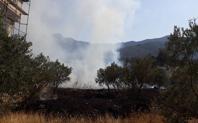 Buldan'da korkutan yangın
