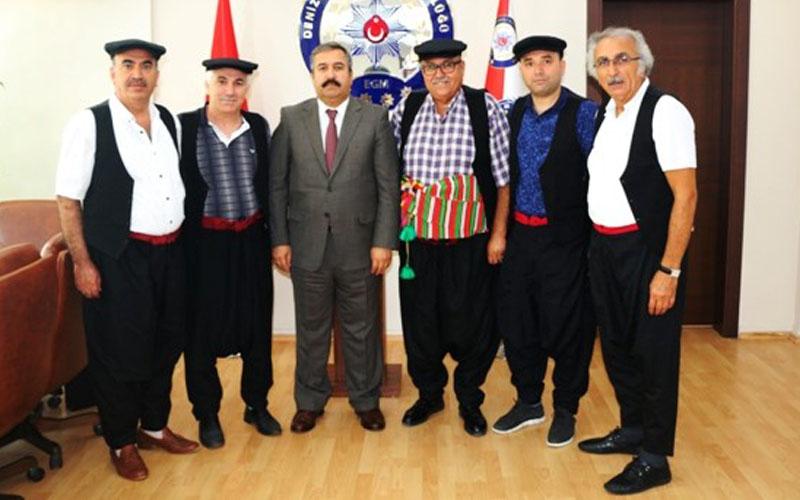 Denizli Yörükler Derneği yönetimi Demir'i ziyaret etti