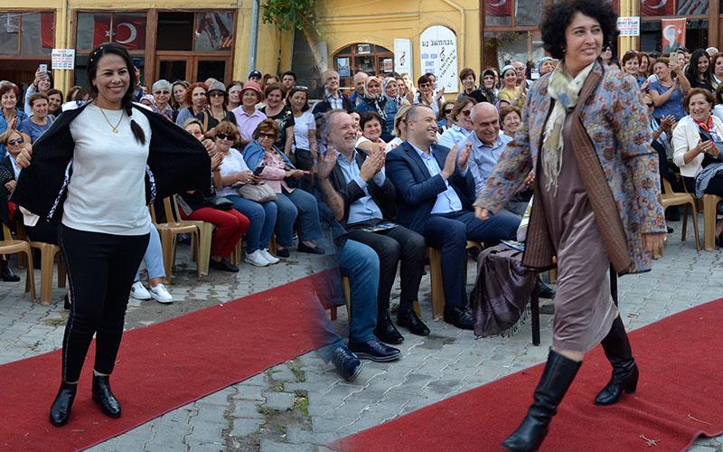 """""""Buldan'da Sanat Var"""" Festivali'nde başkan eşleri podyumda"""