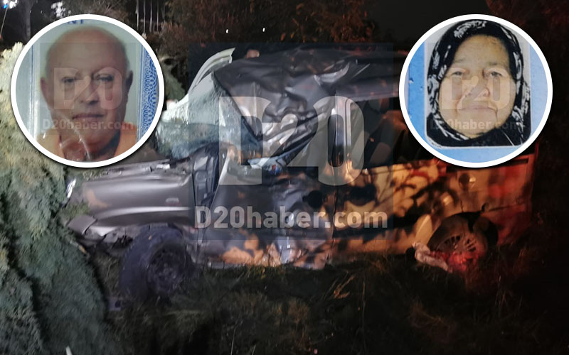 Mıcır kazası: şoför öldü, eşi yaralı