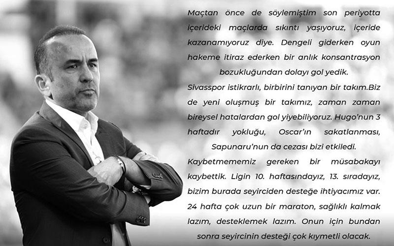 Denizlispor, Özdilek'in açıklamasını paylaştı, sosyal medyadan yorum yağdı