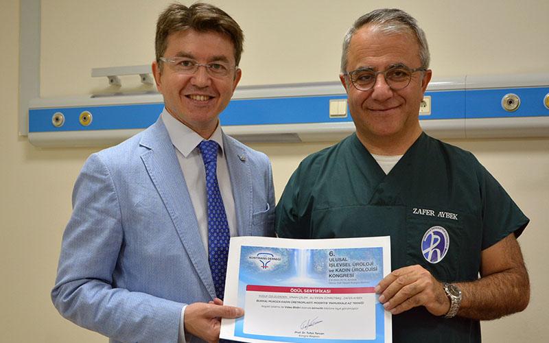 PAÜ Hastanesinden 2 akademisyene ödül