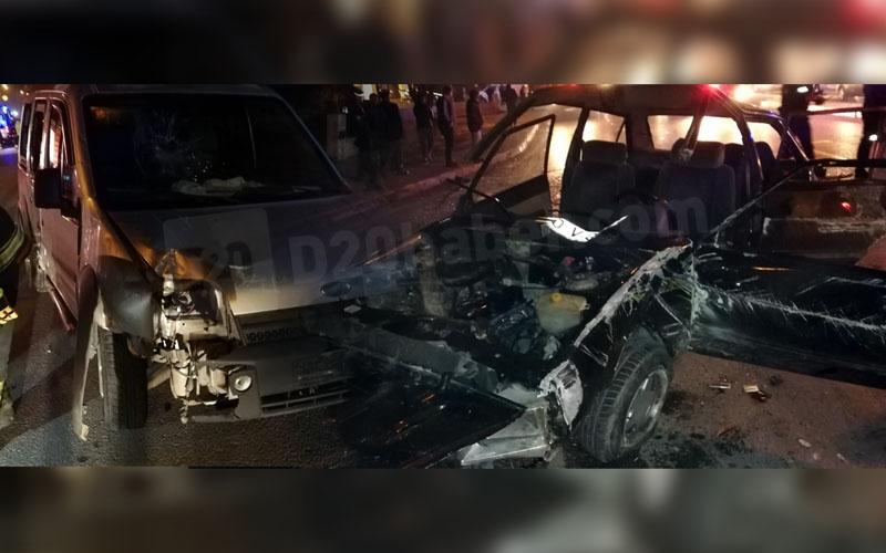 Otomobilin metal yığınına döndüğü kaza: 1'i ağır 3 yaralı