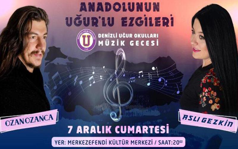 Anadolu'nun Uğur'lu ezgileri konseri 7 Aralık'ta