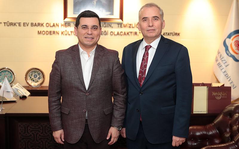 Akdeniz Belediyeler Birliği Başkanı Tütüncü'den Başkan Zolan'a ziyaret