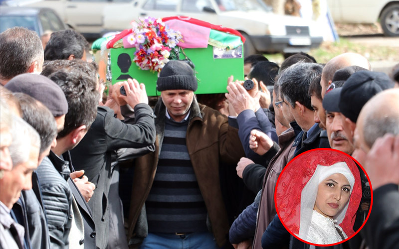 Kazada ölen gelininin tabutunu omzunda taşıdı