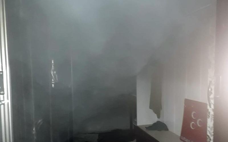 Acıpayam'da ev yangını