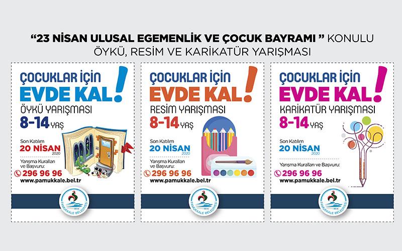 Pamukkale Belediyesi'nden öykü, resim ve karikatür yarışması