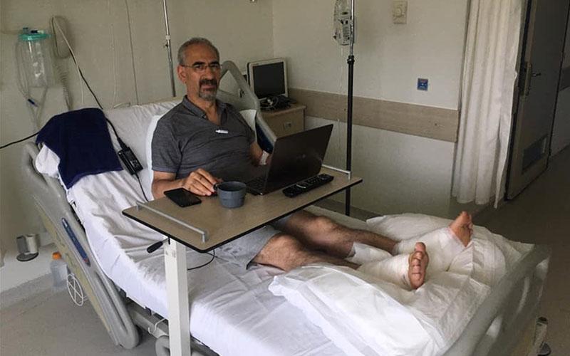 Termal suya düşen profesör yaralandı