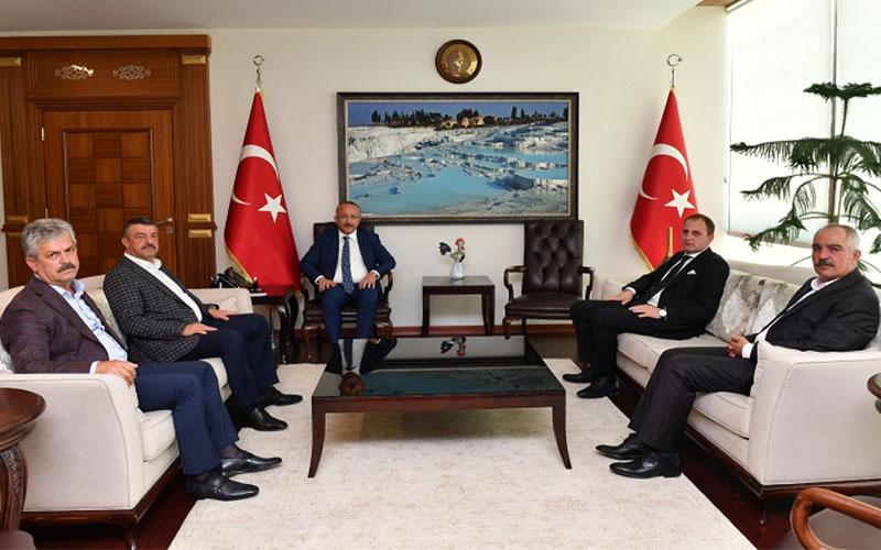 Vali Atik'e Siirtli ilçe belediye başkanlarından ziyaret