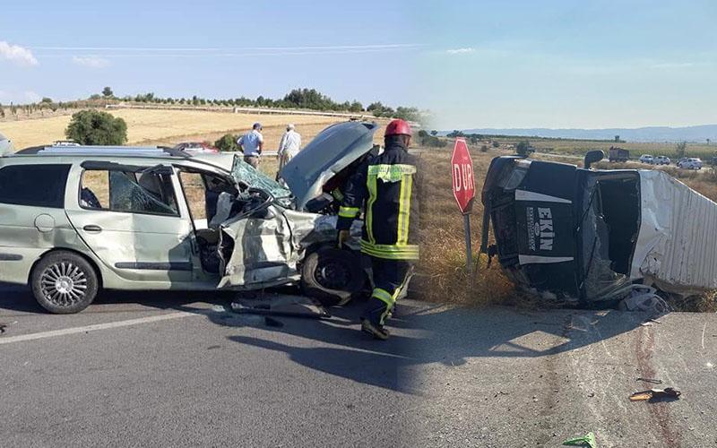 Minibüs ile otomobil çarpıştı: 1 kişi öldü, 2'si çocuk 8 kişi yaralandı