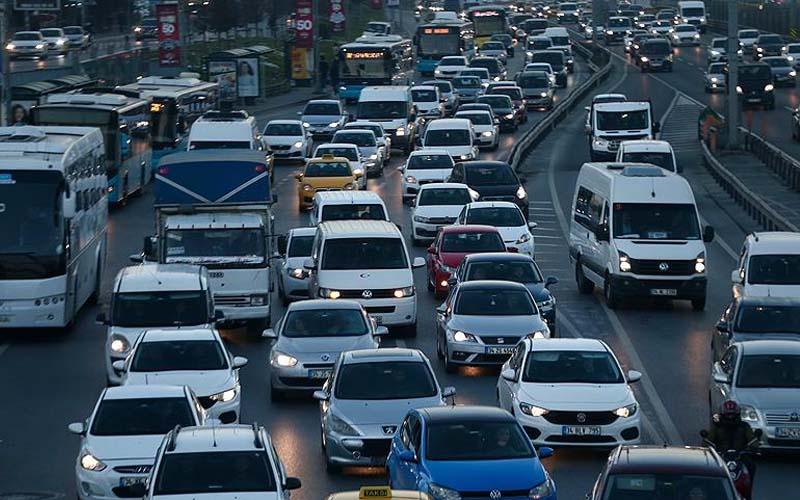 Denizli'de motorlu araç sayısı 419.831 oldu