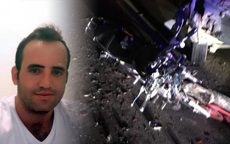 Arızalanan araca arkadan çarpan motosikletli öldü