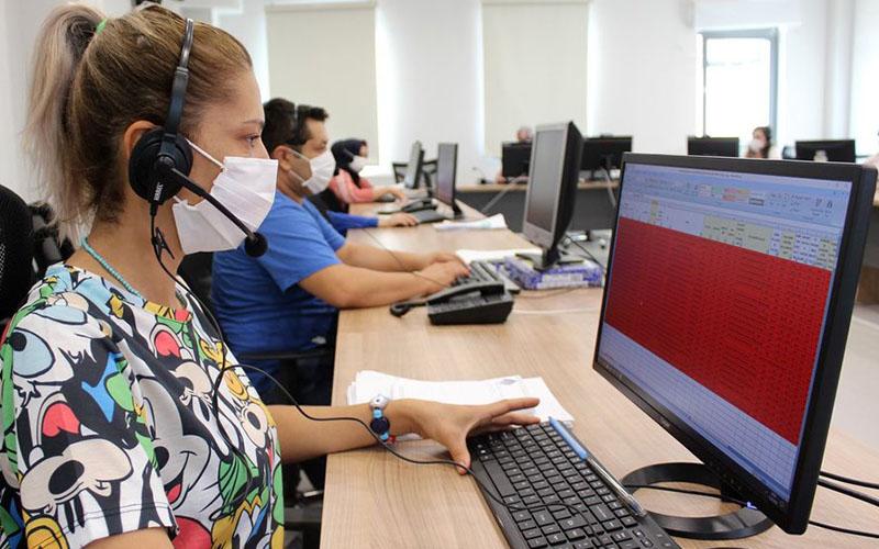 Denizli'de COVID Çağrı Merkezi 21 personelle hizmet veriyor