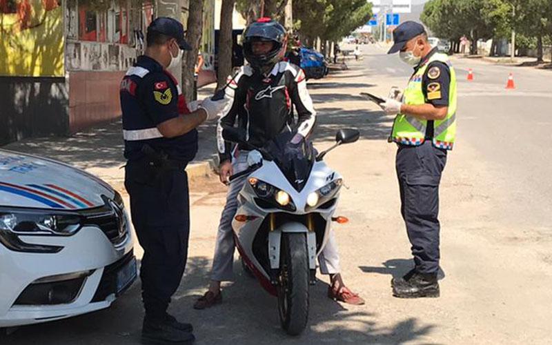 Jandarmadan il genelinde motosiklet ve kask denetimi