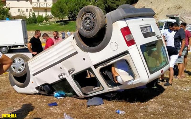 Denizli-Antalya karayolunda mıcır kazası