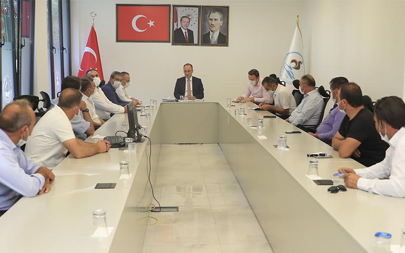 Pamukkale'de muhtarlar 2021 bütçe görüşmeleri öncesi Örki'yle buluştu