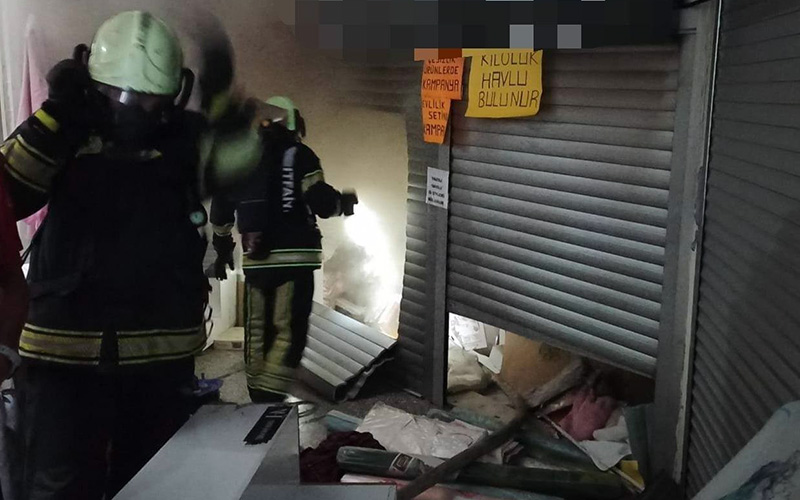 Babadağlılar İşhanı'ında korkutan yangın