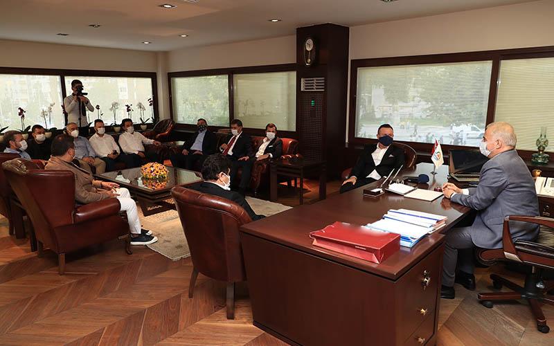 Denizlispor yönetimi, Başkan Zolan'ı ziyaret etti