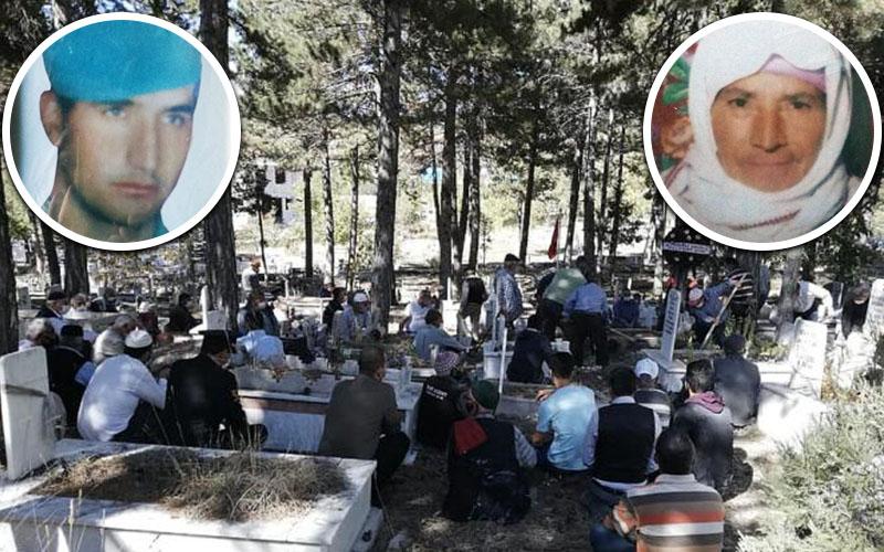 Şehit annesi oğlunun mezarının yanında toprağa verildi