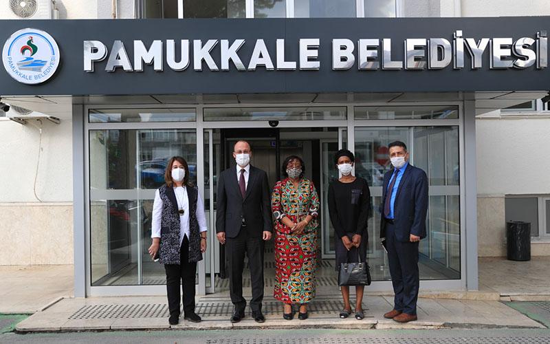 Tanzanya Büyükelçisi, Pamukkale Belediyesini ziyaret etti