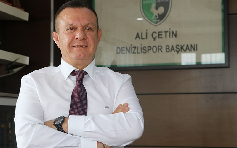 Denizlispor Kulübü Başkanı Çetin coronavirüse yakalandı