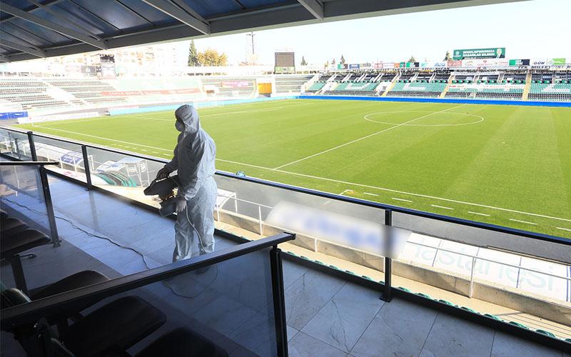 Karşılaşma öncesi Atatürk Stadyumu dezenfekte edildi
