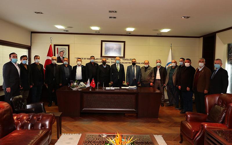 Muhtarlar Derneği yönetiminden  Zolan ve Örki'ye ziyaret