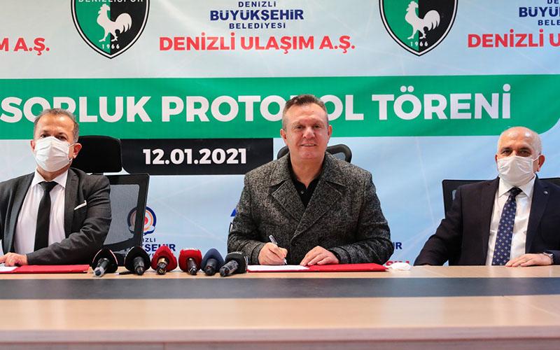 Denizli Büyükşehir, Denizlispor'a sponsor oldu