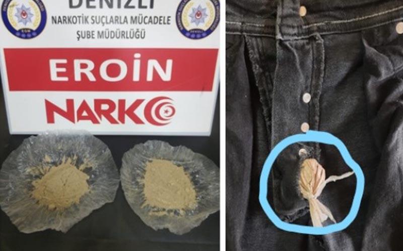 Pantolonun fermuarını uyuşturucu zulası yapmışlar